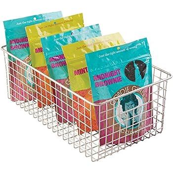 Amazoncom mDesign Wire Storage Basket for Kitchen Pantry