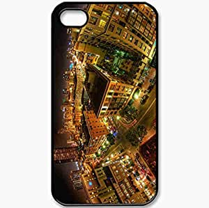 Protective Case Back Cover For iPhone 4 4S Case USA California San Diego Black