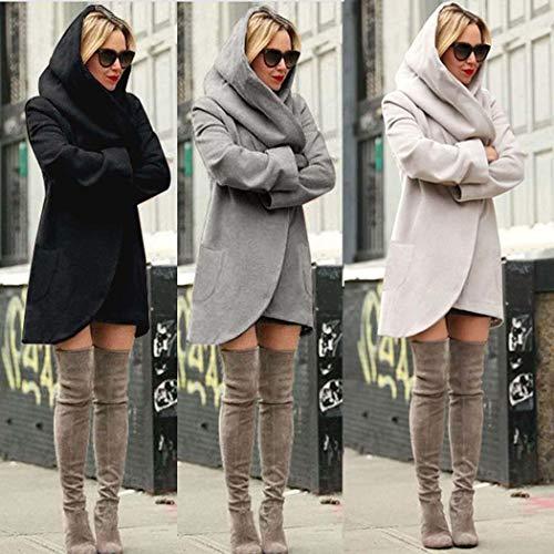 Kaki Veste Manches Femmes Hiver Coat Casual Blouson Manteau Mince Pardessus Hoodies Encapuchonné Longues FEFwT7Bnqx
