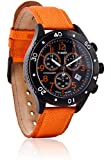 Timex T2N085 Mens T Series Orange Nylon Strap Chronograph Watch
