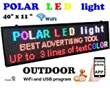 Outdoor WiFi P6 high Resolution, Full LED RGB Color Sign 40' x 11' with high Resolution P6 128x32 dots and New SMD Technology. Perfect Solution for Advertising