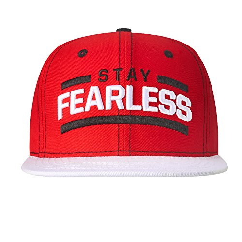 WWE Authentic Wear WWE Nikki Bella Stay Fearless White Brim Snapback Hat Red One Size by WWE Authentic Wear