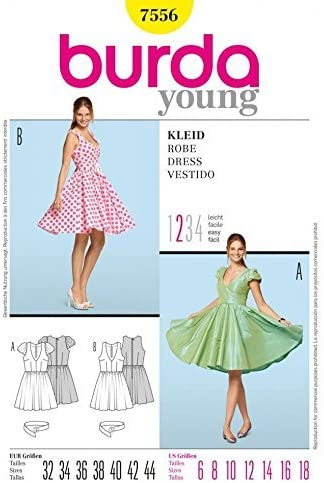 Patrón de Costura Burda Young Fashion 7556 – círculo Falda de ...