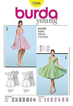 Burda Ladies Young Fashion Sewing Pattern 7556 - Circle Skirt ...