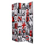Brassex London Print Room Divider (Double Sided)