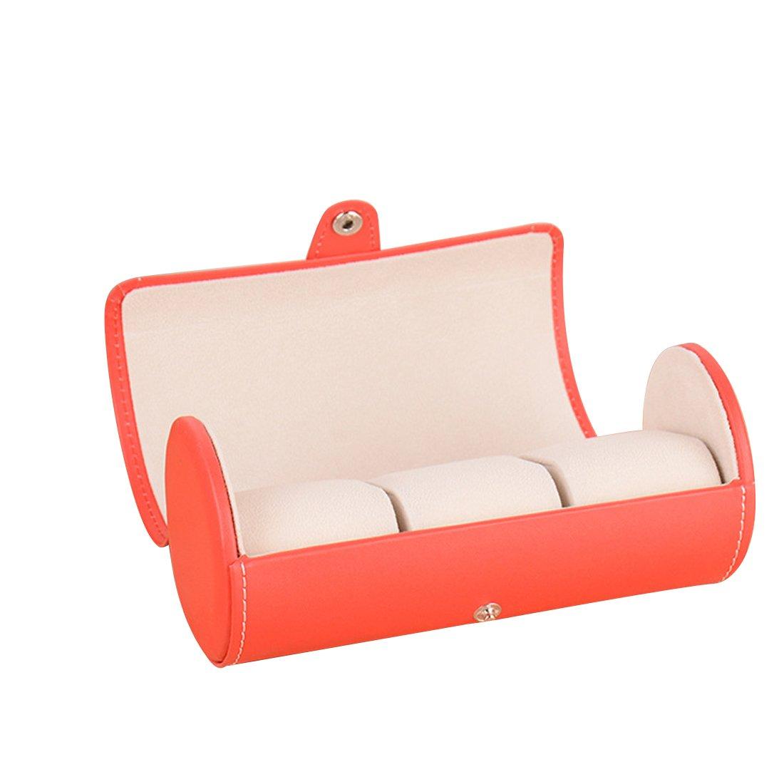 gabriellay Luxury Exquisite PUレザー腕時計ボックス腕時計Dislpay box-red B076VHFMYY