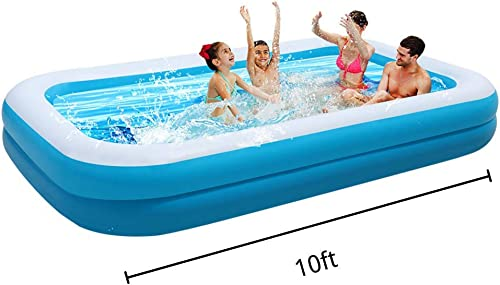 OTLIVE Large Family Inflatable Swimming Pool for 1-7 People Thickened Abrasion Resistant Inflatable Pool with Inflator