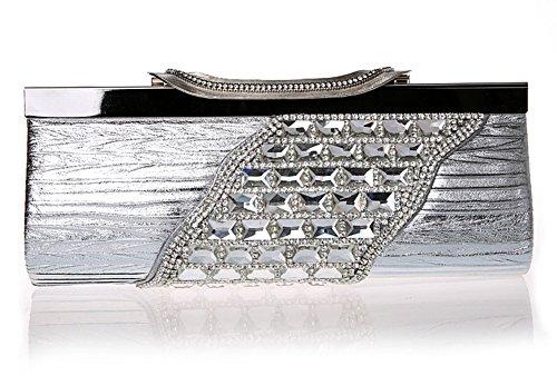 bolso de diamante aerodinámico/embrague de lujo/banquete de alto grado/Sra bolsos de noche/paquete de novia-E A