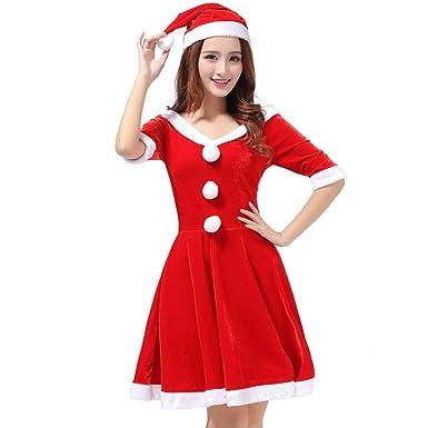❤ Vestido de Navidad de la Mujer, Vestido Lindo Atractivo de la Mujer Divertido Traje de Fiesta de Disfraces de Navidad Ropa Interior Atractiva Absolute: ...