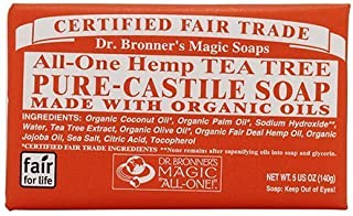 product image for Dr. Bronner All-One Hemp Tea Tree Pure-Castle Bar Soap Net Wt 5oz