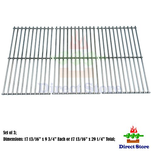 Direct store Parts DS105 Solid Stainless Steel Cooking grids Replacement Ducane:4100, Affinity 4100, Affinity 4200, Affinity 31421001; Master Forge : MFA550CBP, P3018 Gas Grill by Direct store