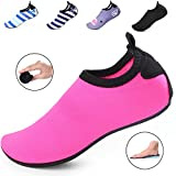 Kids Water Shoes/Quick-Drying, Comfortable Children Aqua Shoes with Rubber Soles/for Pool, Beach, Yoga and Water Hikes (12M US Little Kid / 30-31 EUR, Pink)