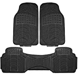 Johns FMR-23 (3pc Set) Black All-Weather Rubber Floor Mats