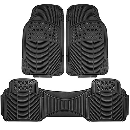 Johns FMR-23 (3pc Set) Black All-Weather Rubber Floor Mats by Johns