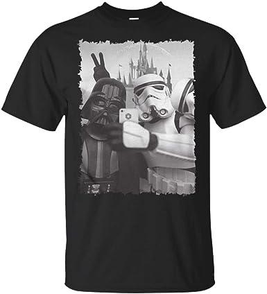 2XL Star Wars T-shirt Funny Stormtrooper Selfie Retro Vintage Black T-shirt S