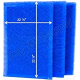 MicroPower Guard Replacement Filter Pads 24x25 Refills (3 Pack) BLUE
