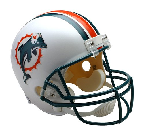 Miami Dolphins Throwback 1997-2012 Throwback Riddell Full Size Deluxe Replica Football Helmet - New in Riddell Box