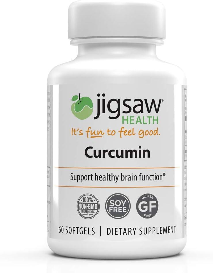 Jigsaw Health Curcumin Softgels 95 Curcuminoids, Curcumin Extract for Antioxidant Support – 60 Count