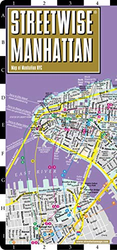 Streetwise Manhattan Map - Laminated City Center Street Map of Manhattan, New York (Michelin Streetwise - City York Map New