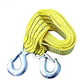 """MUZUO 2"""" X 10' , 3 Ton 2 Inch X 10 Ft / 3M . Fluorescent colo Polyester Tow Strap Rope 2 Hooks 6614lb Towing Recovery"""