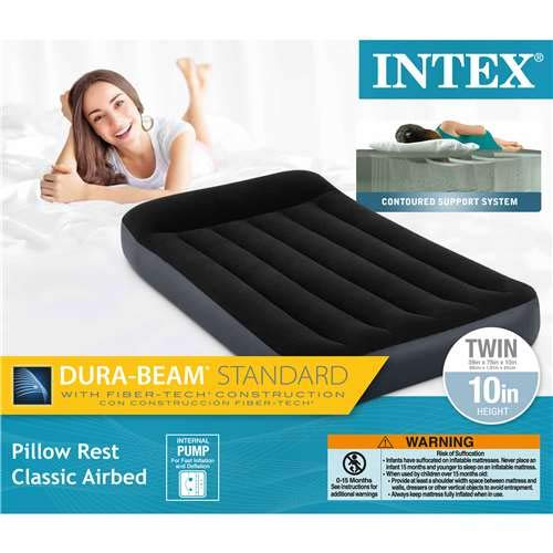 Inflatable Classic (Intex Dura Beam Standard Pillow Rest Classic Airbed with Internal Pump)
