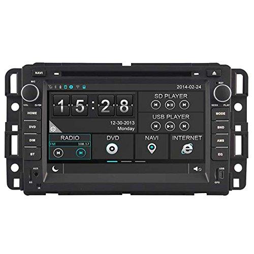 Witson Car DVD GPS Navigation Multimedia Autoradio Headunit for Chevrolet Chevy 07-12 Avalanche Silverado Suburban Tahoe Traverse 07-12 Impala 07-09 Chev Equinox 06-08 Chev Monte Carlo