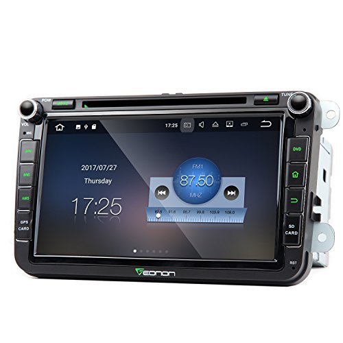Eonon GA8153 Car Stereo Radio Android 7.1 Nougat 8 Inch In Dash Touch Screen Audio GPS Navigation for Car Volkswagen SEAT SKODA Quad Core 2GB RAM with DVD Player Bluetooth Head Unit