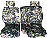 60 40 split camo seat covers - A67 Toyota Tacoma 1995-2000 Front 60/40 Split Bench Seat Cover Adjustable Headrest Armrest Belt Cutout Custom Made for Exact Fit (Camouflage, Camo)