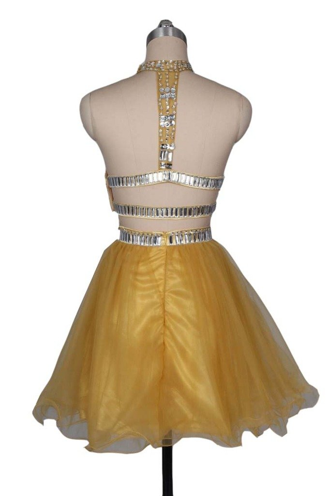 743c5f6f6743 ... Women's Short Two Pieces Homecoming Dress Prom Dresses with Rhinestones  Gold. ; 