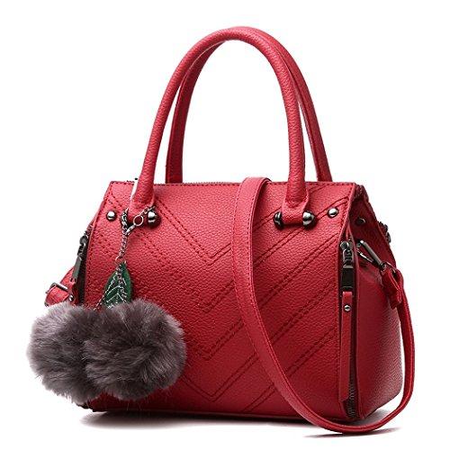 flake-rain-womens-simple-shoulder-bag-exquisite-pendant-pu-leather-hangbag-winered