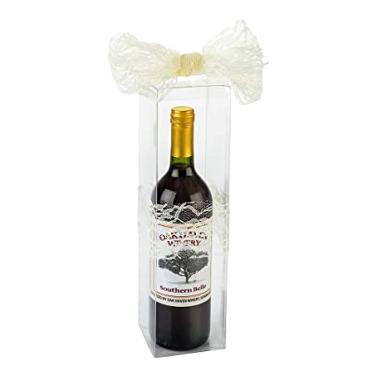 Amazon Com Wine Box Clear Gift Boxes For Wine Bottles Pop Lock