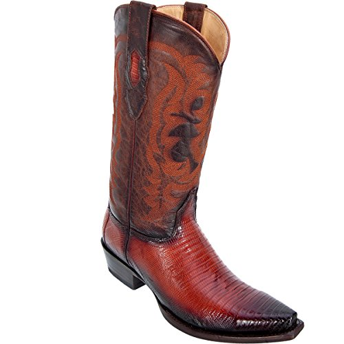 (Original Faded Cognac Lizard Teju Skin Snip-Toe Boot)