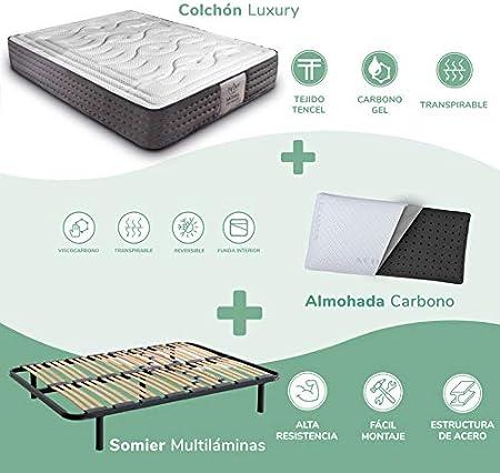 Dreaming Kamahaus Pack Somier Multiláminas + Colchón Luxury Visco ...