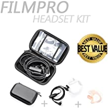 On Set Headsets : The FILMPRO Kit - Includes the FILMPRO Walkie Talkie Surveillance Headset w/ BLACK Travel Case and FREE Contoured Ear Tip (Ear Tip: Left/Large)