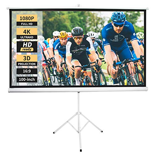 Neewer 100-inch 16:9 Projector Screen with Stand, Indoor Outdoor Foldable Portable Projection Screen 4K HD with Premium Wrinkle-Free Design: 1.1 Gain, 160° Viewing Angle (No Carrying Bag)