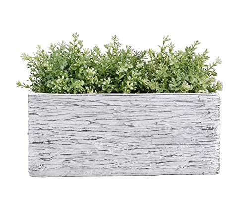 Vencer 10 Inch Rectangular Modern Minimalist Cement Succulent Planter Pot - Decorative Kitchen Herb Garden Planter Container,Office Desktop Potted Stand,Gray,VF-018
