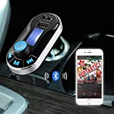 [Upgraded Version] VicTsing Bluetooth MP3 Player FM Transmitter Hands-free Car Kit Charger, Dual USB Charging 5V/2.1A Output, Micro SD/TF Card Reader Slot for iPhone 7 SE 6s 6s Plus iPhone 6 6 Plus, Samsung Galaxy S6 S6 Edage S7 S7 Edage, iPad, etc - Silver Bild 6
