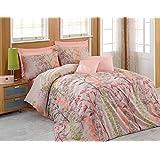 Eponj Home Urla Beige Single Size 140 x 200 cm Quilt Cover Bedding Set - 2 Pieces