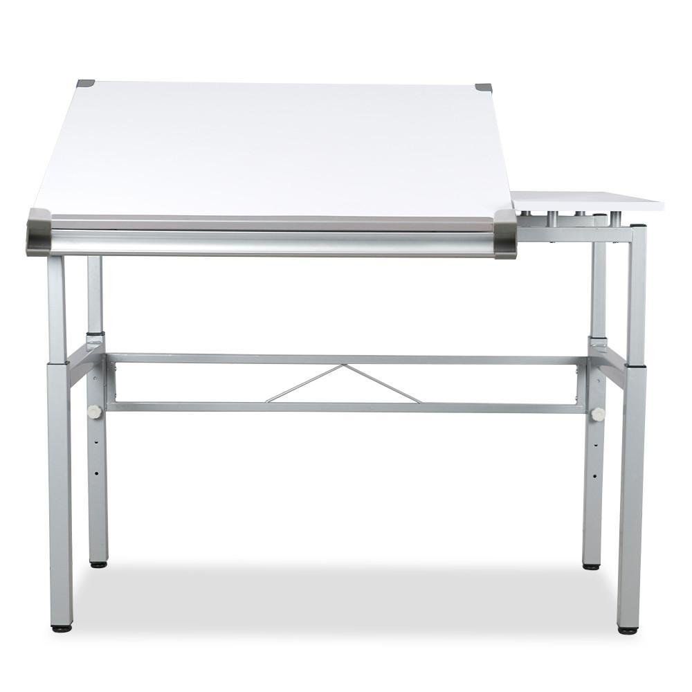go2buy Adjustable Drafting Table Painting Drawing Desk Workstation White
