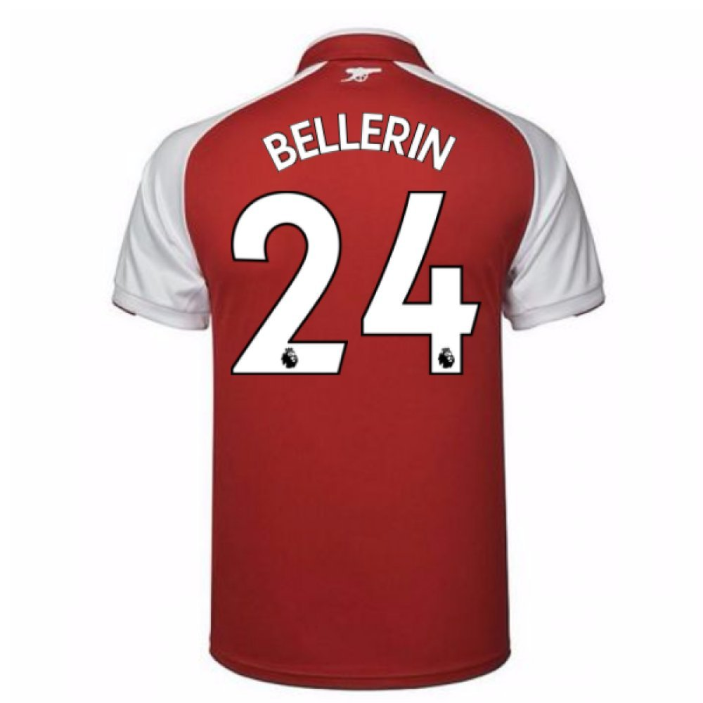 2017-18 Arsenal Home Shirt (Bellerin 24) B077PKCCYC Small Adults|Red Red Small Adults