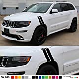 Set of Decal Sticker Vinyl Racing Fender Hash Stripes Compatible with Jeep Grand Cherokee Wk2 SRT8 2011-2016