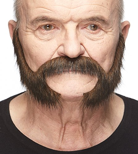 Mustaches Self Adhesive, Novelty, Fake Pedal to The Metal Beard, Brown (Facial Hair Costumes)