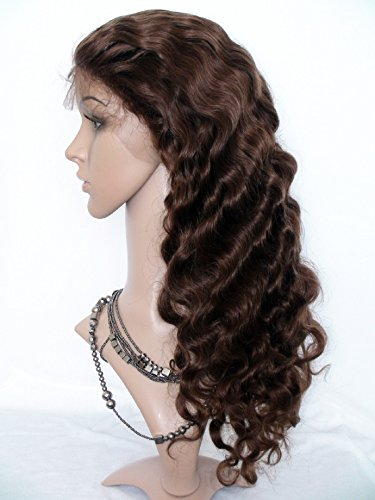 "Price comparison product image Cheap 20"" Human Hair Lace Front Wigs For Black Women Tory Women Chinese Virgin Remy Human Hair Body Wave Color #4 Light Brown"