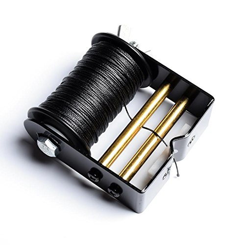 Ww Zat Archery Bowstring Serving Thread Jig Adjustable Tension 30 Meter/Roll 0.018'' for Compound Bow and Recurve Bow Black(Pack of 1) (Black)