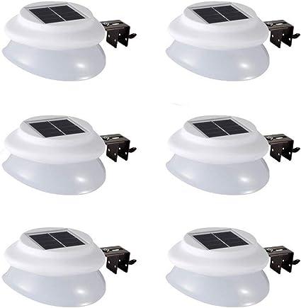 AVEKI 9 LED Solar Powered Garden Outdoor Lights Lamp Solar Fence Gutter Lights