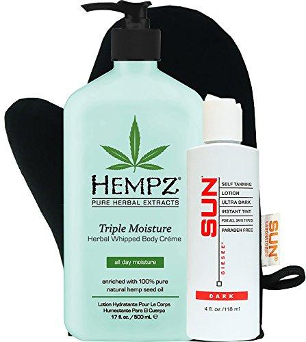 Hempz Triple Moistuare Herbal Whipped Body Crème 17 oz + Da