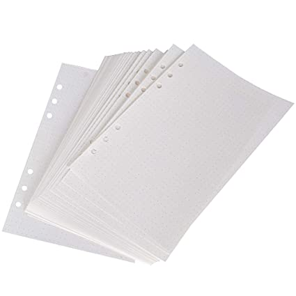 Hojas de Recambio A5 Punteadas Recambios de Agendas Folios Hojas de Recambio 6 Anillas 160 Hojas/320 Páginas para Cuadernos Diarios Planificador ...
