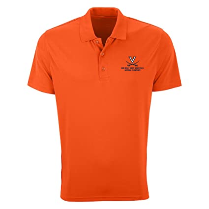 efcc68cadd07 Elite Fan Shop UVA Virginia Cavaliers National Basketball Champions Polo  Shirt 2019 Orange - M
