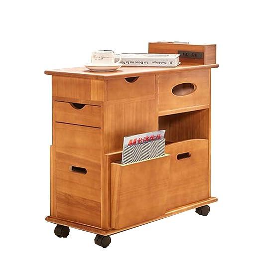 Folding desk Mueble de Escritorio Plegable con Ruedas, de Madera ...