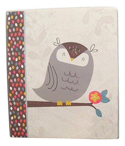 carolina-pad-studio-c-1-o-ring-vinyl-binder-with-pockets-forest-friends-gray-owl-on-branch-10-x-11-5